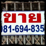 Thai Signs: For Sale