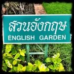 Thai Signs: English Garden