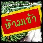Thai Signs: Do Not Enter