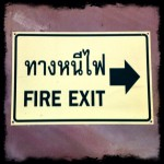 Thai Signs: Fire Exit