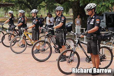 Ayutthaya Police Bike Patrol