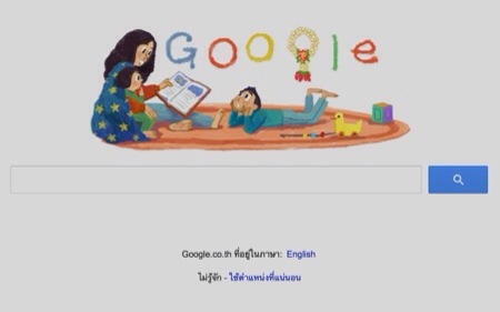 A Google Doodle for Mother's Day in Thailand