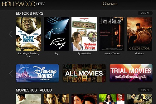 Hollywood HDTV is Thailand's Version of Netflix