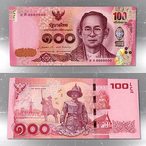 The Bank of Thailand to Launch New 100-Baht Banknote
