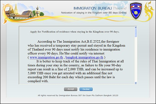 You Can Now Do 90-Day Reporting Online in Thailand