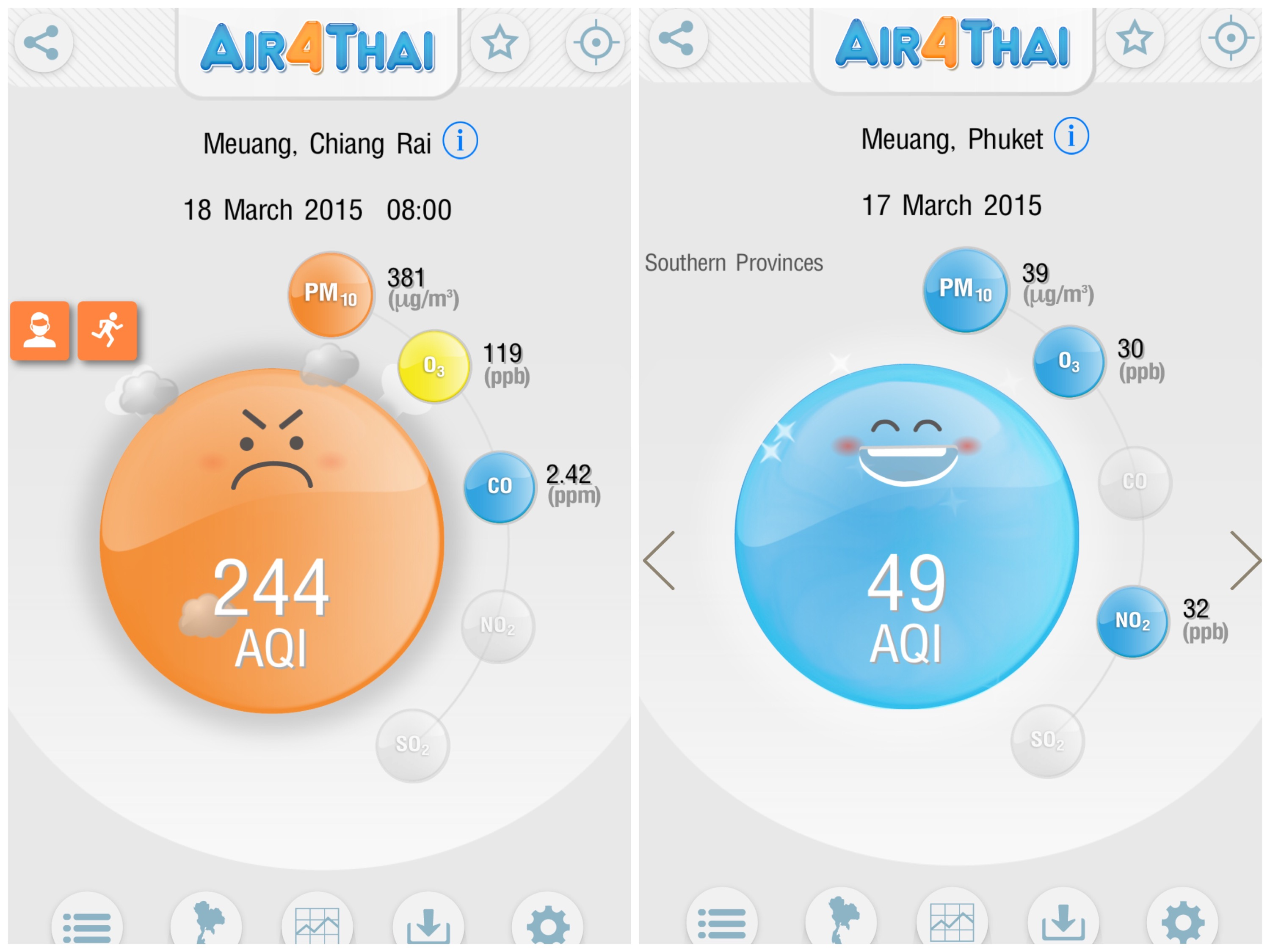 App for Checking Air Quality in Thailand