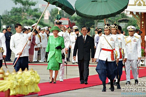 Queen Elizabeth and the King of Thailand