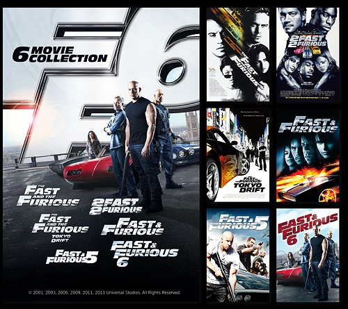 """Watch all """"Fast and the Furious"""" movies for 250 Baht"""