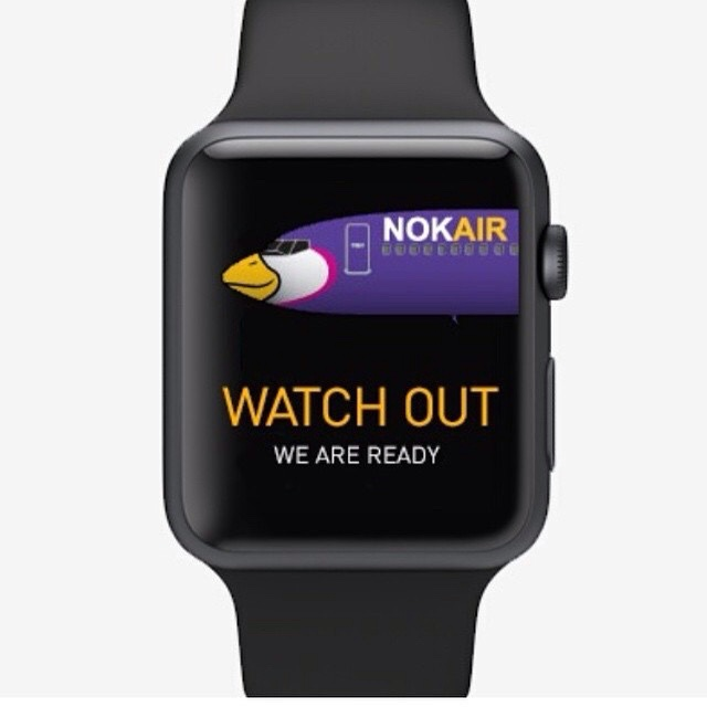 Nok Air first airline in Thailand to have an app for Apple Watch