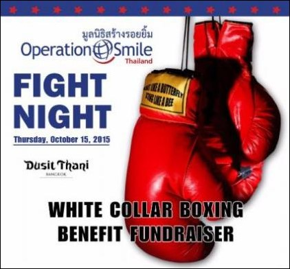 "Operation Smile Thailand Hosts ""Fight Night!"" on 15 October 2015"