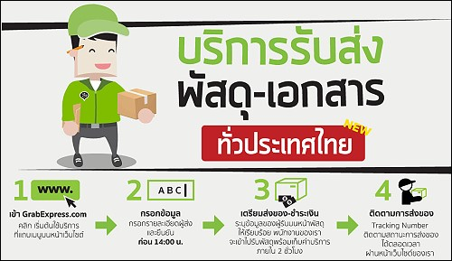 GrabTaxi launches Parcel and Courier Service in Thailand