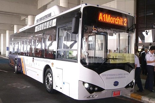 Bangkok's first electric bus begins trial run